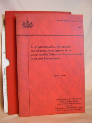 A LITHOSTRATIGRAPHIC, PETROGRAPHIC AND CHEMICAL INVESTIGATION OF THE LOWER MIDDLE ORDOVICIAN...