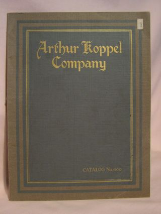 ARTHUR KOPPEL COMPANY; CONSULTING ENGINEERS AND MANUFACTURERS OF PORTABLE RAILWAYS, INDUSTRIAL...