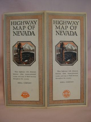 HIGHWAY MAP OF NEVADA, SHELL COMPANY, 1928