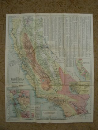 MAP OF CALIFORNIA WITH A BRIEF DESCRIPTION OF ITS RESOURCES, ATTRACTIONS, TOPGRAPHY AND CLIMATE