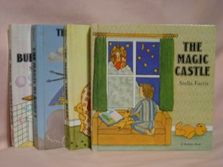 THE MAGIC CASTLE, THE MAGIC BLANKET, THE MAGIC TEDDY BEAR, and THE MAGIC BUBBLE PIPE. Stella Farris