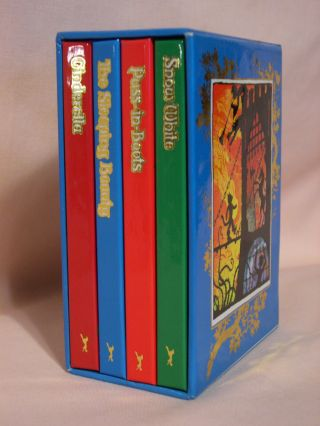 RAIRY TALE LIBRARY; four volume set comprising: Cinderella; Puss-in-Boots; The Sleeping Beauty;...