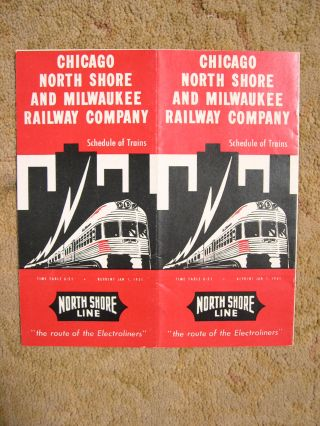CHICAGO, NORTH SHORE AND MILWAUKEE RAILWAY COMPANY [PASSENGER] SCHEDULE OF TRAINS. TIME TABLE...