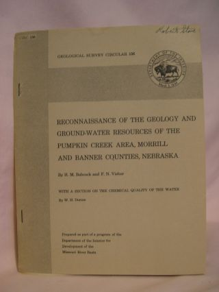 RECONNAISSANCE OF THE GEOLOGY AND GROUNDPWATER RESOURCES OF THE PUMPKIN CREEK AREA, MORRILL AND...