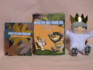 WHERE THE WILD THINGS ARE; MAX PLUSH TOY AND STICKER BOOK. Maurice Sendak