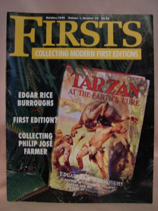 FIRSTS: COLLECTING MODERN FIRST EDITIONS; THE BOOK COLLECTOR'S MAGAZINE; OCTOBER, 1991 VOLUME 1,...