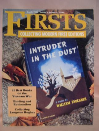 FIRSTS: COLLECTING MODERN FIRST EDITIONS; THE BOOK COLLECTOR'S MAGAZINE; OCTOBER, 1992 VOLUME 2,...