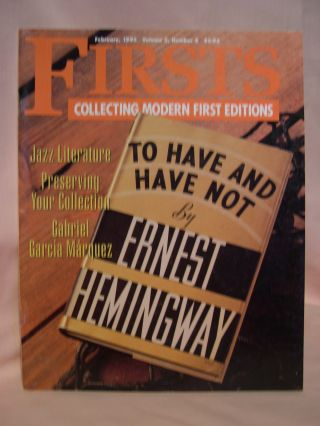FIRSTS: COLLECTING MODERN FIRST EDITIONS; THE BOOK COLLECTOR'S MAGAZINE; OCTOBER, 1993 VOLUME 3,...