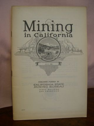 CHAPTER OF REPORT XVIII OF THE STATE MINERALOGIST COVERING MINING IN CALIFORNIA AND THE...