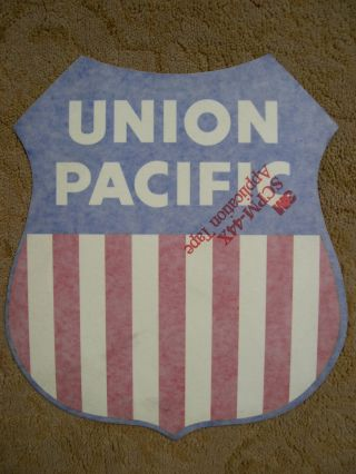 UNION PACIFIC INSIGNIA SHIELD [ADHESIVE SHIELD FOR THE SIDE OF A VEHICLE]