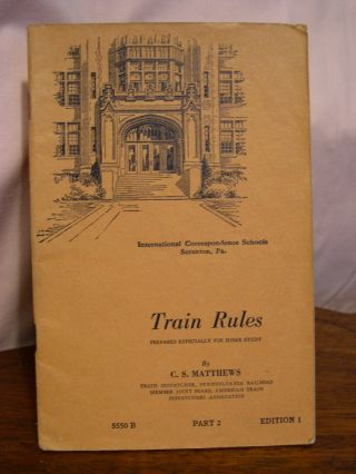 TRAIN RULES, PARTS 1 & 2, SERIAL 550 A & B, EDITION 1